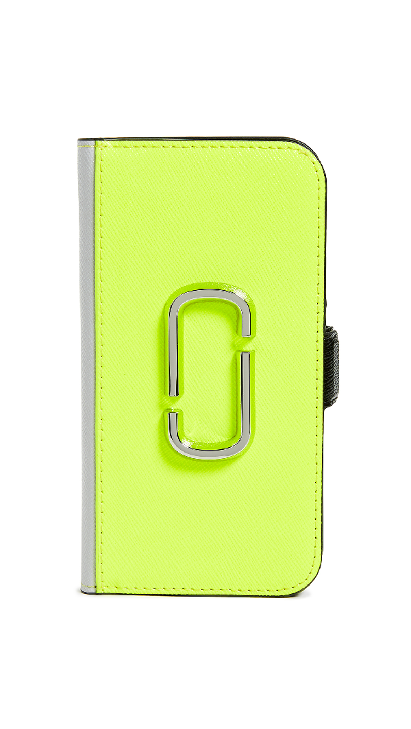 Marc Jacobs Double J Folio Iphone 8 Case In Yellow Multi