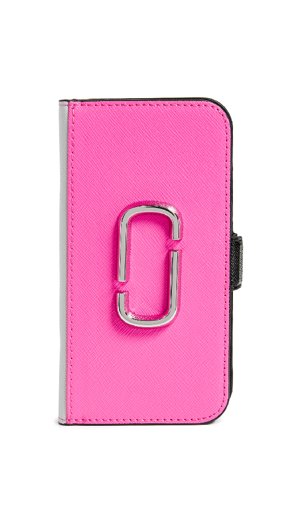 Marc Jacobs Double J Folio Iphone 8 Case In Pink Multi