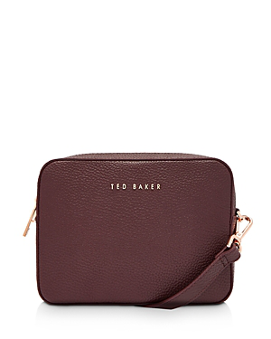 33d65ea401db Ted Baker Saphire Soft Leather Crossbody Camera Bag In Deep Purple ...
