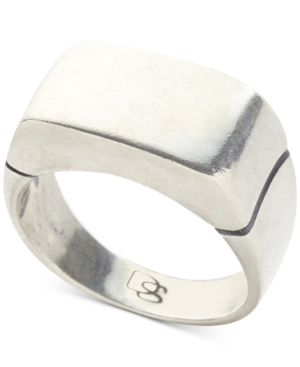 Flat Top Ring In Sterling Silver