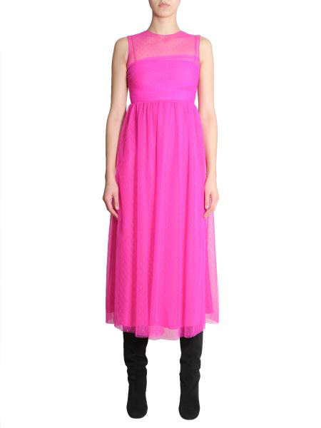 Red Valentino Sleeveless Dress In Pink