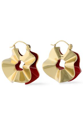 Ellery Woman Flourish Gold-Tone Earrings Gold