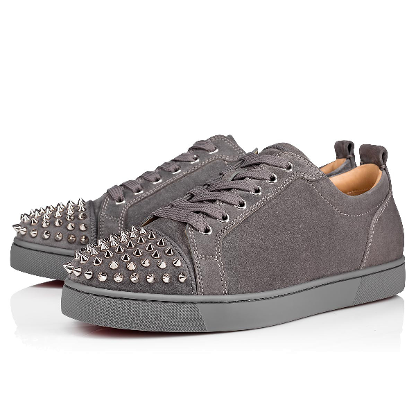 ecea0218e072 Christian Louboutin Louis Junior Spikes Men s Flat In Shadow Sv ...