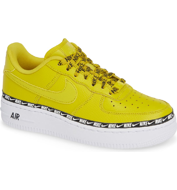timeless design 397f0 30a14 Nike Women s Air Force 1  07 Se Premium Casual Shoes, Yellow