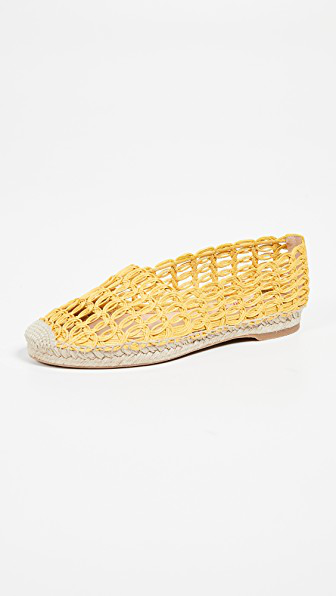 Charlotte Olympia 10Mm Woven Raffia Espadrilles In Sunshine Yellow