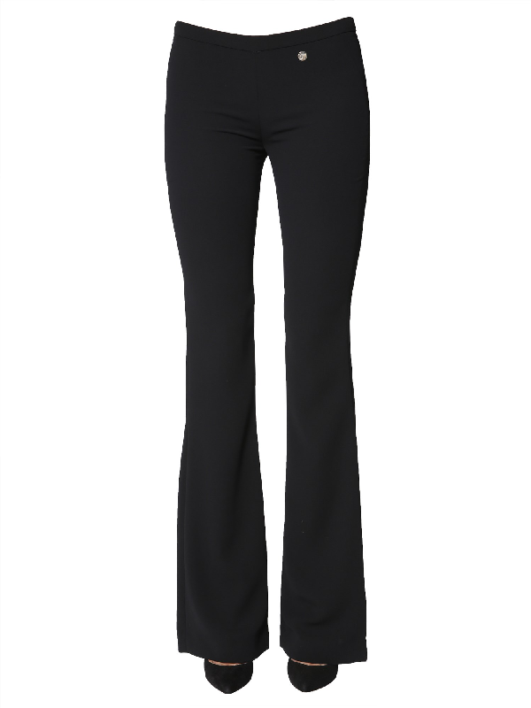 Versace Flare Trousers In Black