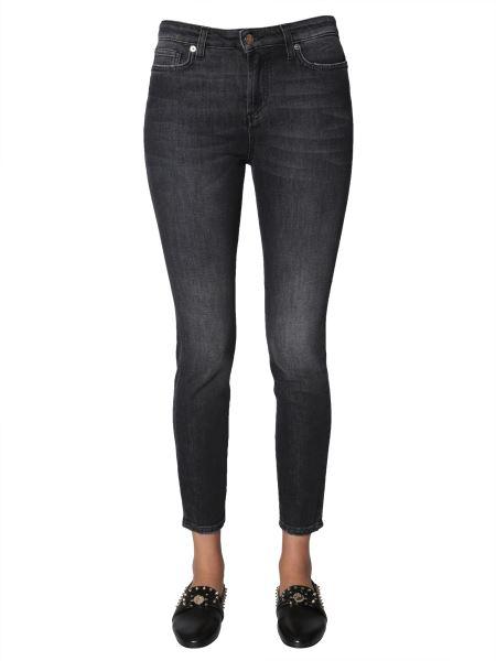 Versace Skinny Fit Jeans In Black