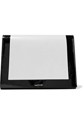 Lanvin Woman Two-Tone Matte And Patent-Leather Clutch White
