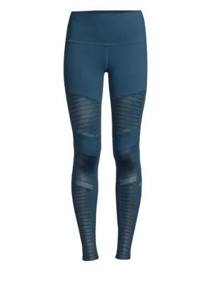 178ac5cde8e872 Alo Yoga High Waist Moto Leggings In Eclipse | ModeSens