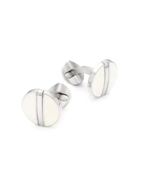 Cufflinks, Inc Reversible Stainless Steel Cufflinks In Black White