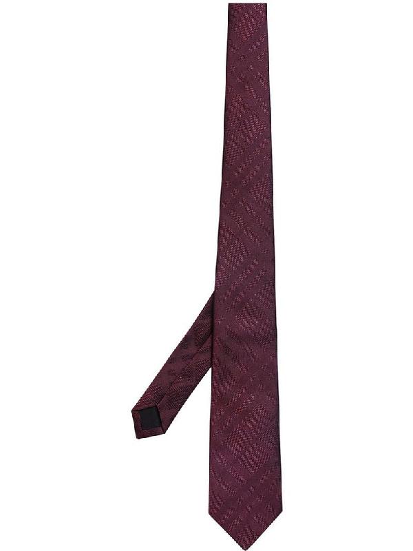 38691ac64fa6 Burberry Modern Cut Check Silk Tie In Red