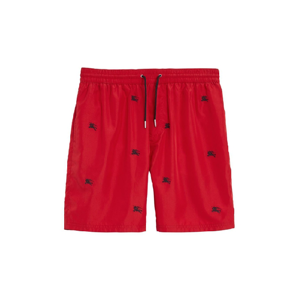 071d2f2917 Burberry Archive Logo Drawcord Swim Shorts In Parade Red Ip Pat ...
