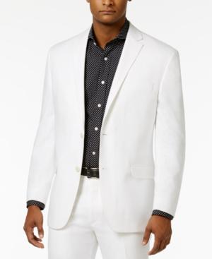 Sean John Men's Classic-fit White Linen Suit Jacket