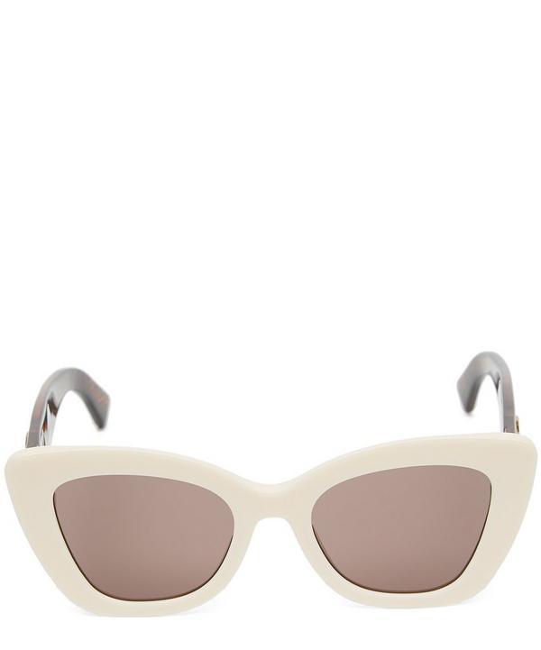 Fendi Logo Sunglasses In White
