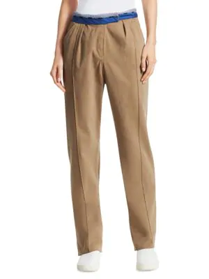 Rosie Assoulin Rolled-up Stretch Cotton Pants In Khaki
