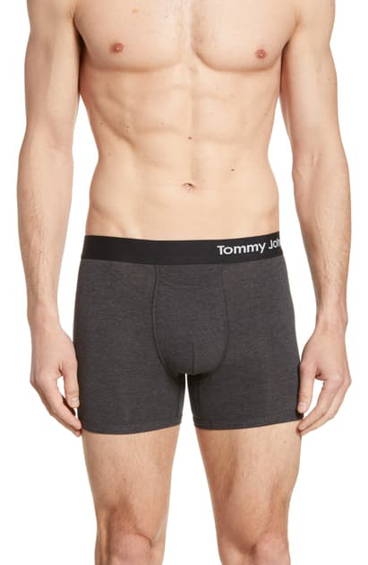Tommy John Cool Cotton Trunks In Charcoal Heather Grey