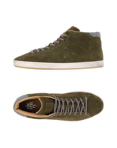 Eleventy Sneakers In Dark Green