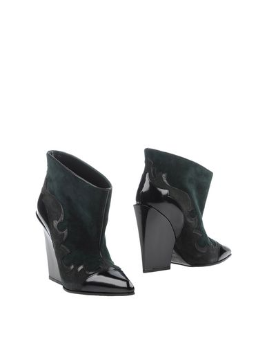 Sergio Rossi Ankle Boot In Dark Green