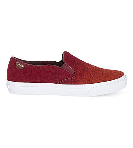 Tory Burch Stardust Slip On Trainers In Red Comb