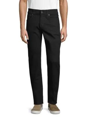 True Religion Skinny Flap Pocket Jeans In Black