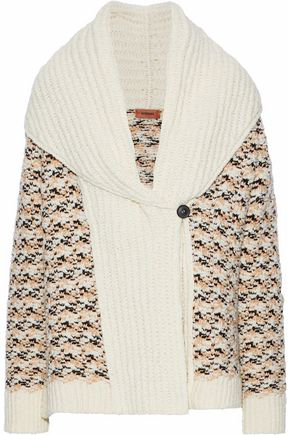 Missoni Woman Crochet-Knit Wool-Blend Cardigan Ivory