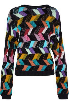 Missoni Woman Crochet-Knit Wool-Blend Sweater Multicolor