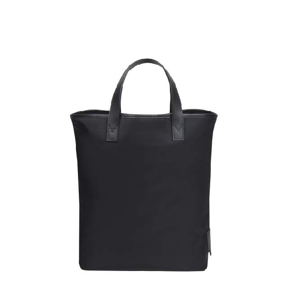 Meli Melo Carry All Black Nylon And Black Leather Trim