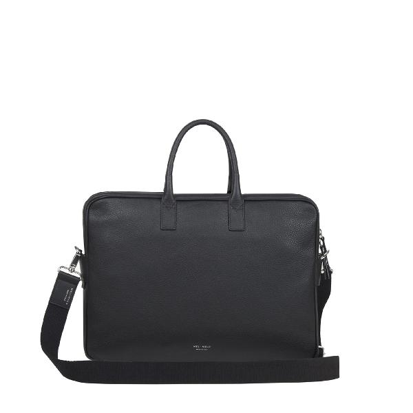 Meli Melo Briefcase In Black Leather For Men