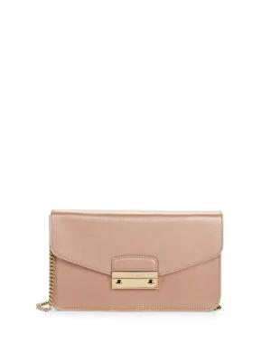 Furla Julia Pochette Leather Shoulder Bag In Moonstone