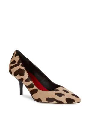 Diane Von Furstenberg Meina Calf Hair Leopard-print Pumps In Natural