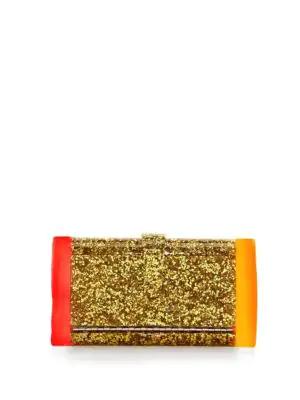 Edie Parker Lara Backlit Clutch In Gold