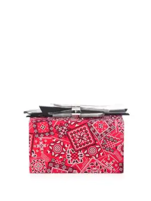 Edie Parker Wolf Paisley Clutch In Red