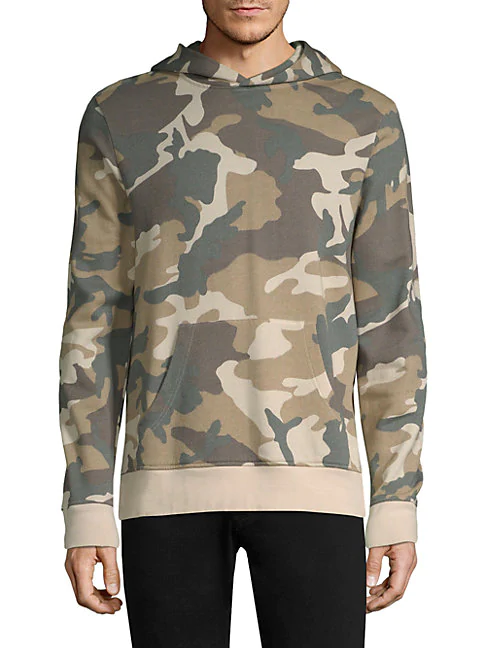 Wesc Mike Camouflage Cotton Hooded Sweatshirt In Pastel Woodland