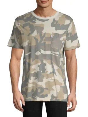 Wesc Maxwell Camouflage Cotton T-Shirt In Light Woodland