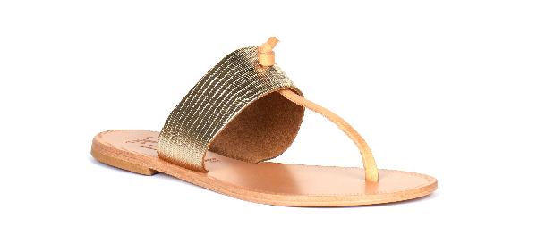 Joie Nice T-Strap Thong Flat Sandal, Platinum