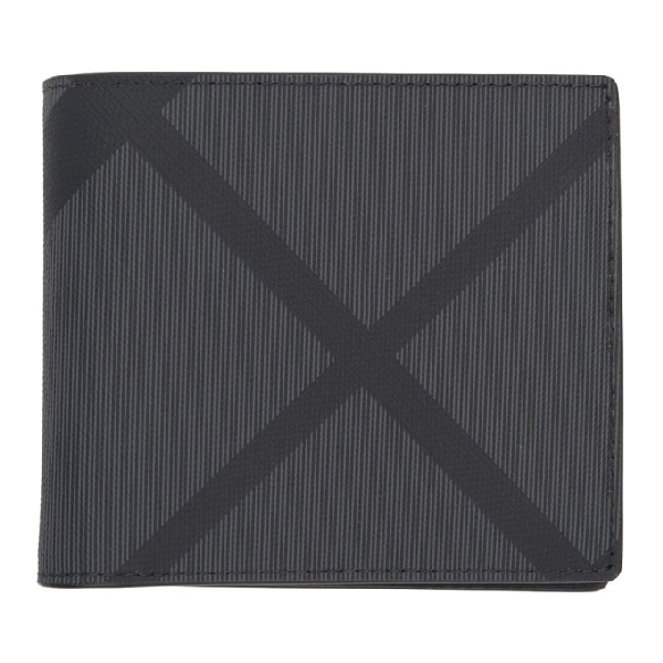 7c215738e387 Burberry London Check And Leather International Bifold Wallet In Black