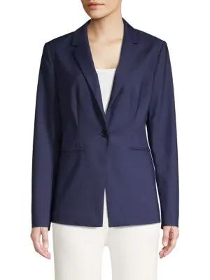 Saks Fifth Avenue Long & Lean Jacket In Navy