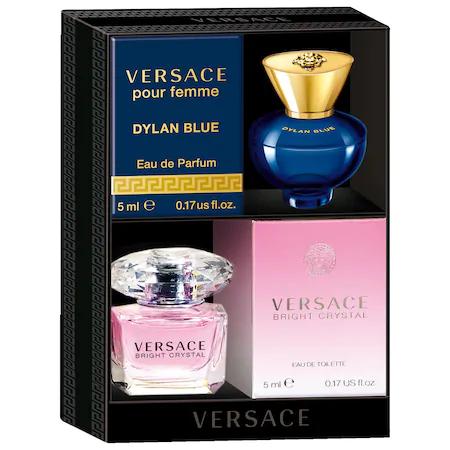 Versace Bright Crystal And Dylan Blue Pour Femme Mini Coffret 2 X 0.17 oz/ 5 ml