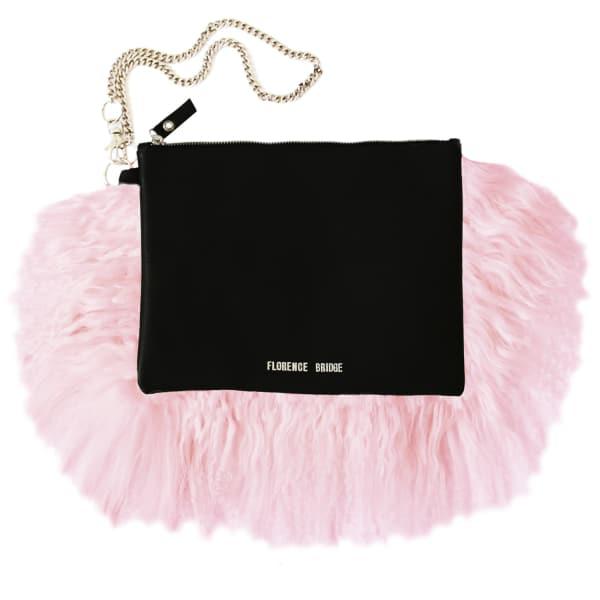 Florence Bridge Fluffy Bianca Clutch Bag Pink