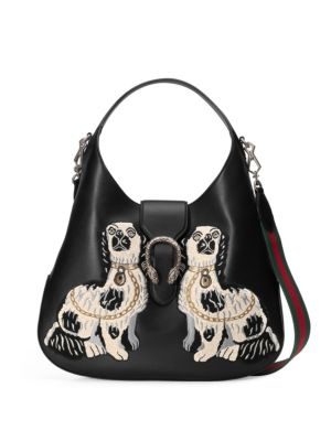 3dc68f6e1ef737 Gucci Dionysus Embroidered Large Leather Hobo In Black | ModeSens