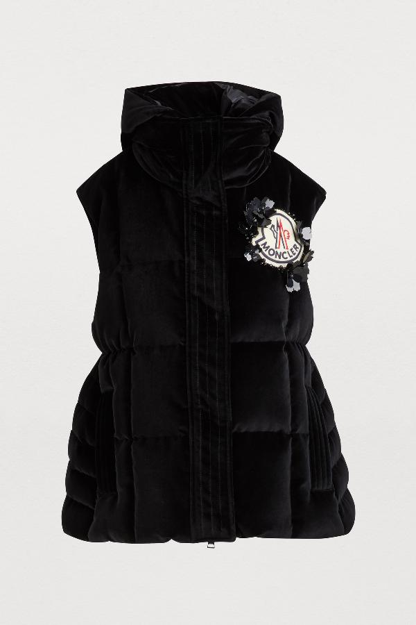 3471e2332 4 Moncler Simone Rocha Jane Vest in Black