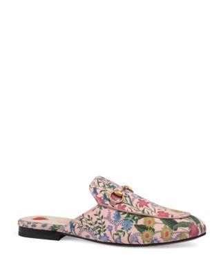 99473e117 Gucci Princetown New Flora Horsebit Mule, Pink | ModeSens