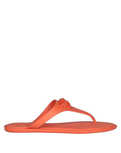 Versace Flip Flops In Orange