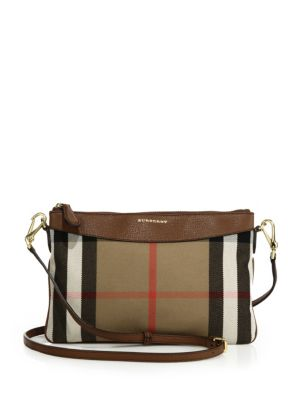 b5e00b8bf465 Burberry  Peyton - House Check  Crossbody Bag - Beige In Tan
