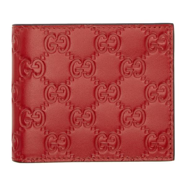 91e846750f2 Gucci Signature Wallet In Red