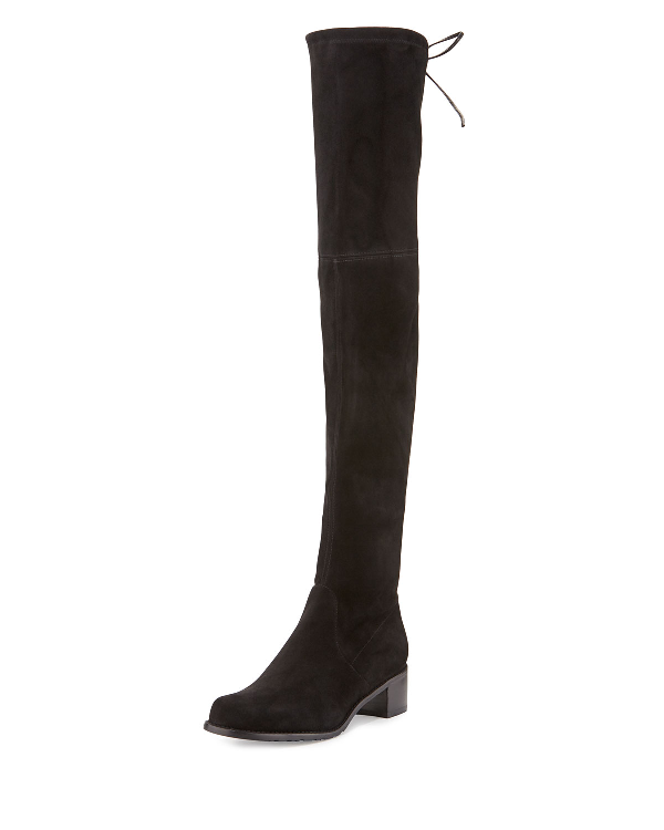 Stuart Weitzman Midland Suede Over-The-Knee Boot In Black