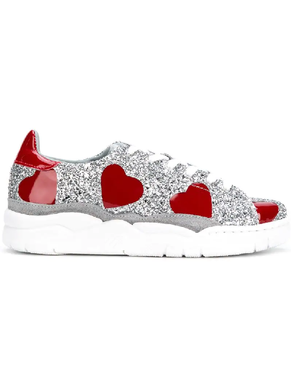 Chiara Ferragni Glitter Sneaker In Metallic