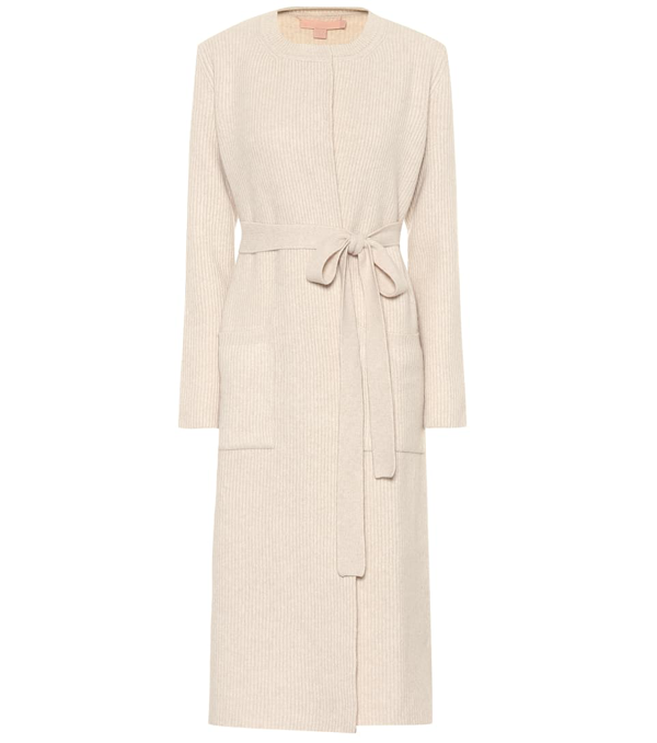 Brock Collection Orefice Wool And Cashmere Coat In Beige