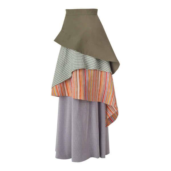 Daneh Waterfall Skirt Stripe In Multicolour