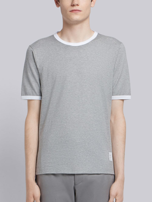 Thom Browne Men's Grey Cotton T-shirt